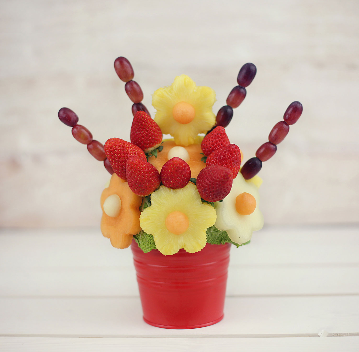 Blooming flowers edible fruit bouquet Fruit bouquet